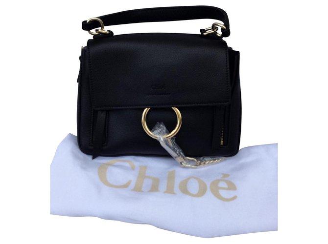Chloé Chloé Mini Faye Day Handbags Lambskin Black ref.159600