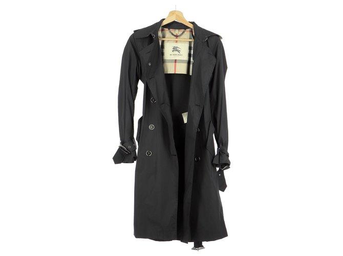 Burberry Trench Trench coats Nylon Black ref.159793