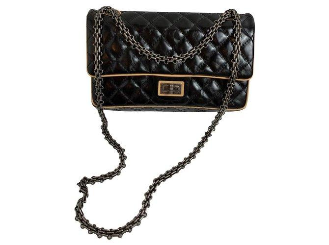 Chanel Chanel 2.55 Handbags Leather Black ref.159934