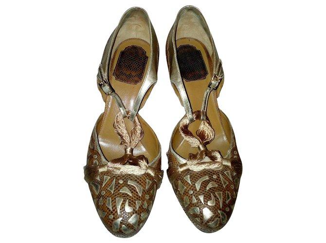 Sandales Dior Sandales cuir Cuir Marron clair ref.159939