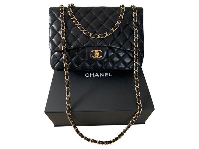 Chanel Chanel Jumbo Handbags Leather Black ref.159941
