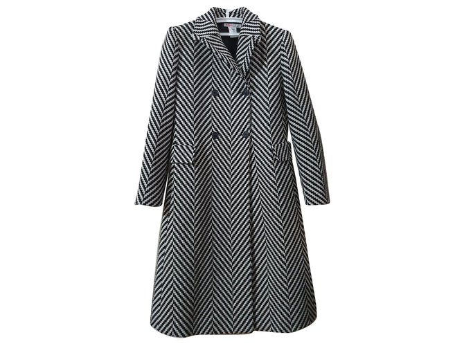 Michael Kors Coats, Outerwear Coats, Outerwear Wool Black,White ref.160114