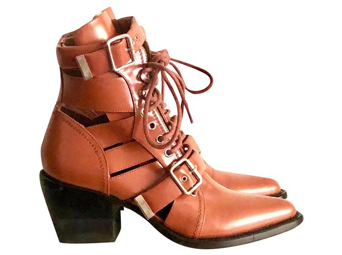 Chloé Chloé Rylee Ankle Boots Ankle Boots Leather Light brown ref.160127