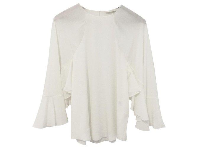 Chloé Tops Tops Silk White ref.160331