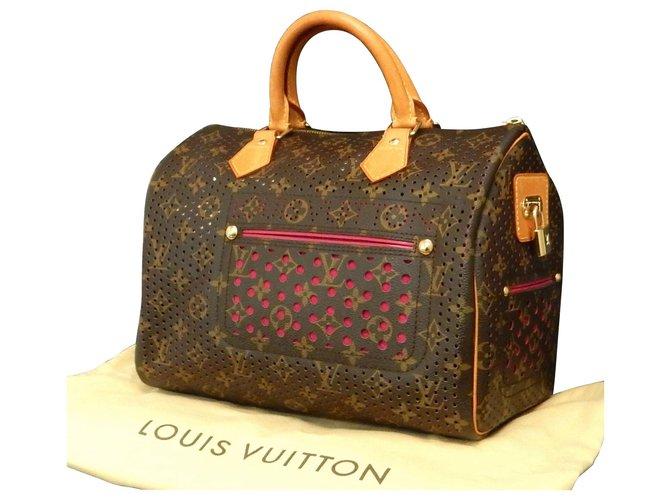 Louis Vuitton Louis Vuitton perfo-speedy Handbags Cloth Pink ref.160388