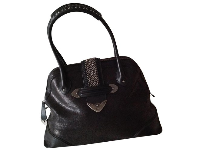 """Christian Dior Collection / Model """"Jeanne"""" Handbags Leather Black ref.160572"""