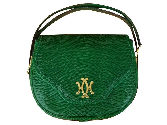 Hermès Hermès Bag Minaudière Emeral Green Lizard Ghw Rare Handbags Exotic leather Green ref.160829