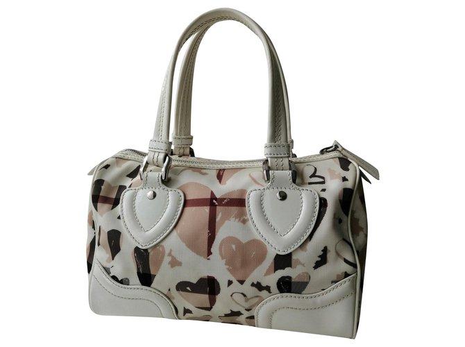 Burberry Handbags Handbags Polyester White ref.160877
