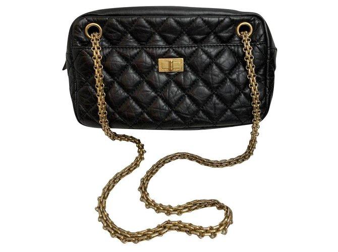 Sacs à main Chanel Chanel Camera Cuir Noir ref.161020