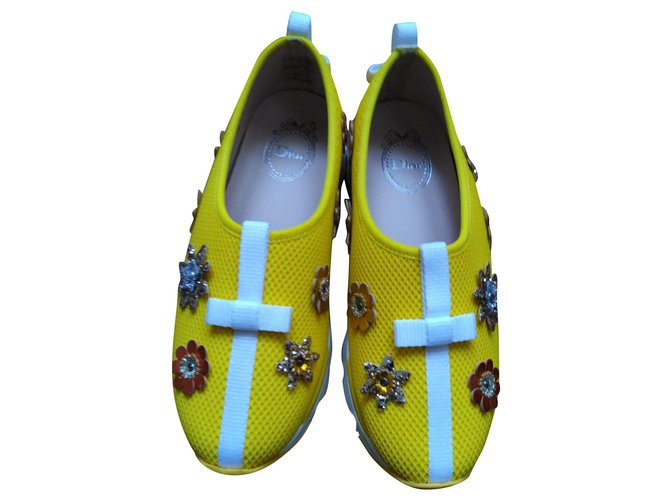 Dior fusion Sneakers Cloth Yellow ref.161022