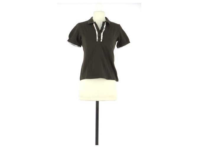 Burberry Polo Tops Cotton Chocolate ref.161076