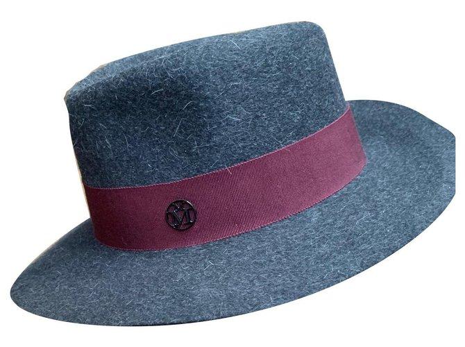 Maison Michel Hats Hats Wool Dark grey ref.161164