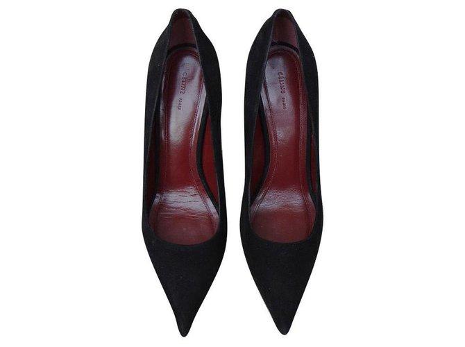 Céline Heels Heels Leather Black ref.161201