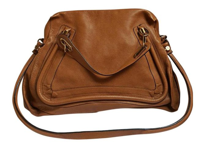 Chloé Paraty Handbags Leather Light brown ref.161215