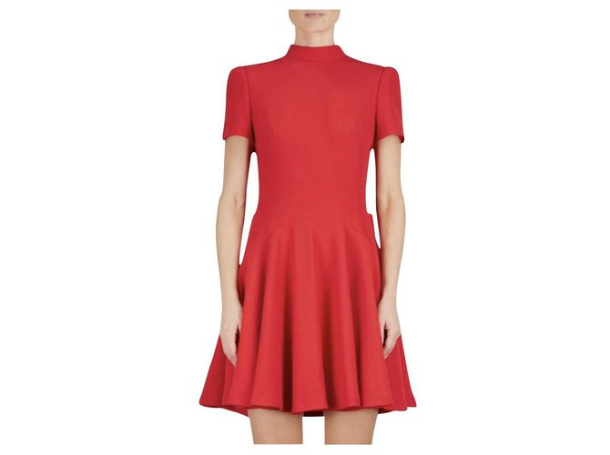 Alexander McQueen - red crepe dress Viscose Acetate  ref.161768