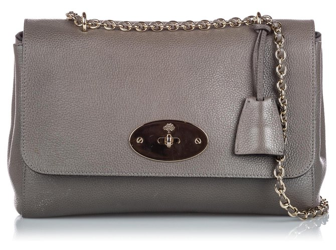 Mulberry Mulberry Gray Leather Lily Handbags Leather,Other Grey ref.161808
