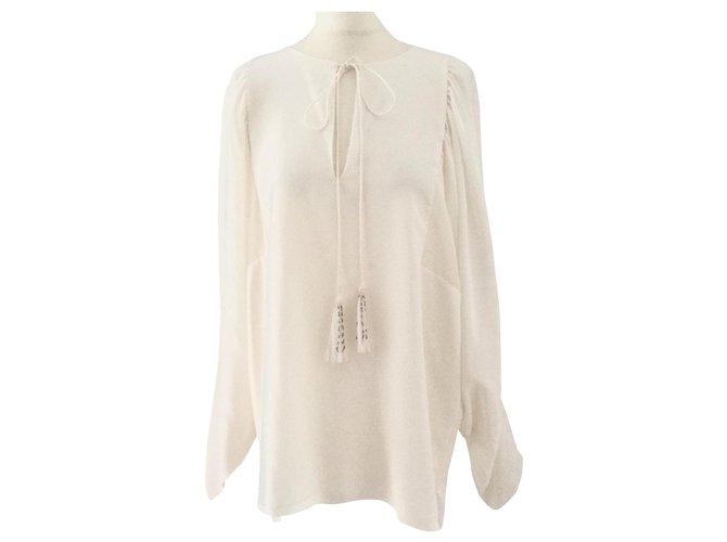 Chloé Tops Tops Silk White ref.161902