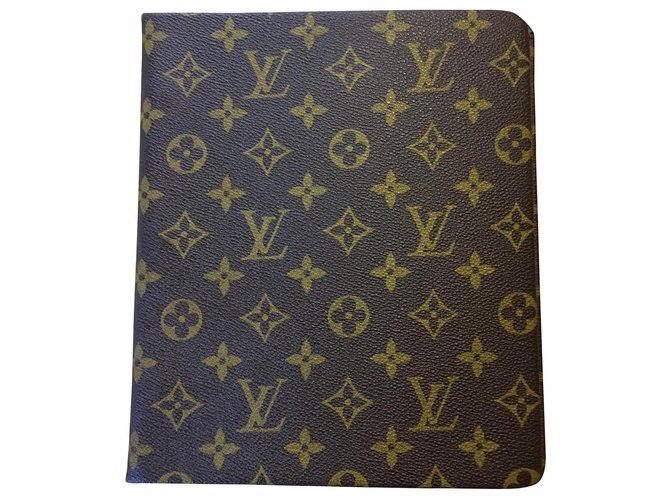 Louis Vuitton Louis Vuitton filing cabinet Purses, wallets, cases Cloth Dark brown ref.162174