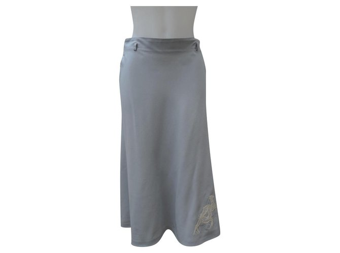 Chloé Skirts Skirts Silk,Cotton Grey ref.162244