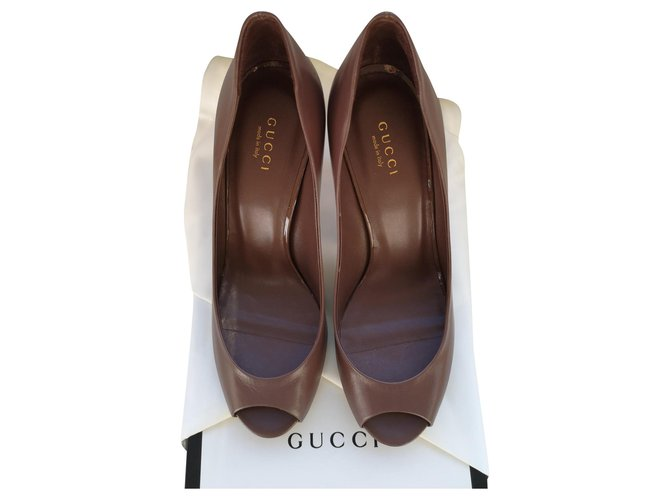 Gucci Gucci open toe pumps Heels Leather Other ref.162396