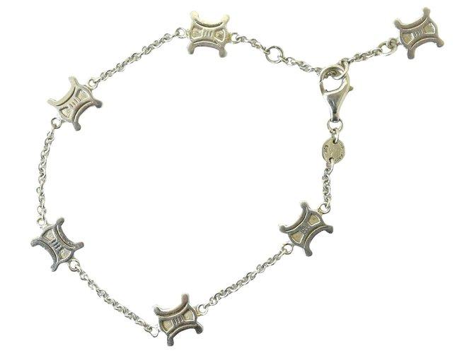 Bracelets Céline Celine Macadam Silver Sv 925 Plaqué or Argenté ref.162602