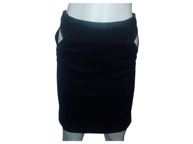 Jupes Gucci Jupe noire Coton Noir ref.162640