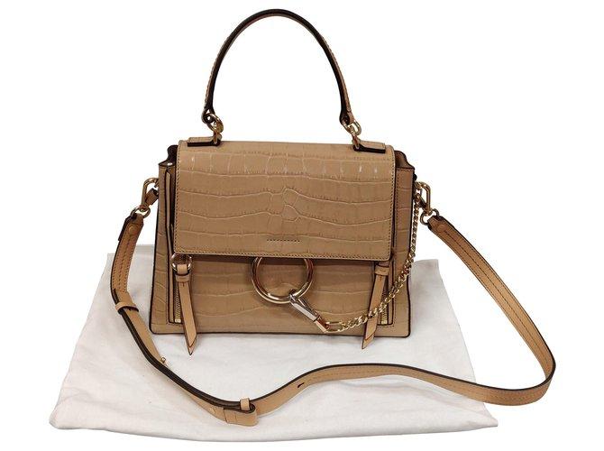 Chloé Chloé Faye Day Handbags Leather Beige ref.162785