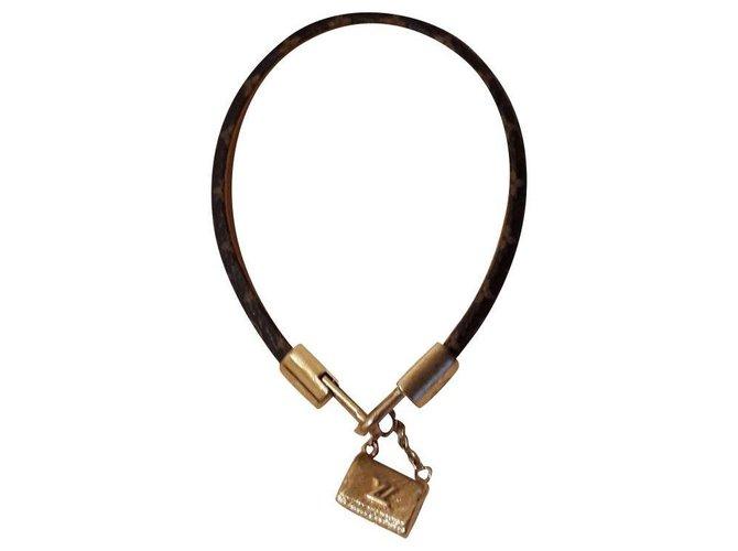 Bracelets Louis Vuitton Bracelets Cuir Marron foncé ref.162824