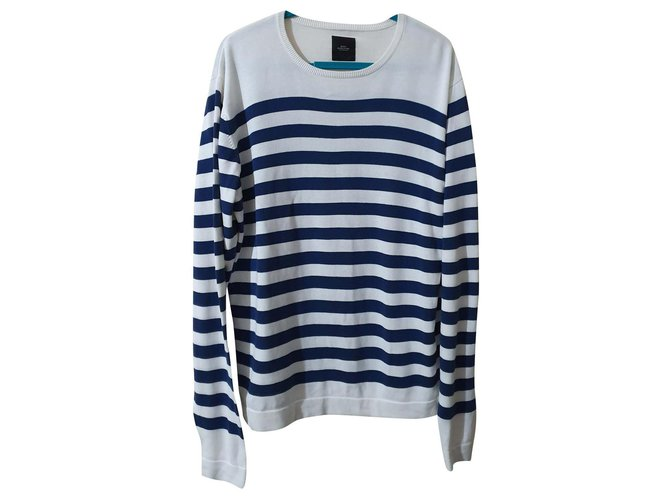 Autre Marque Sweaters Sweaters Cotton White,Blue ref.162894