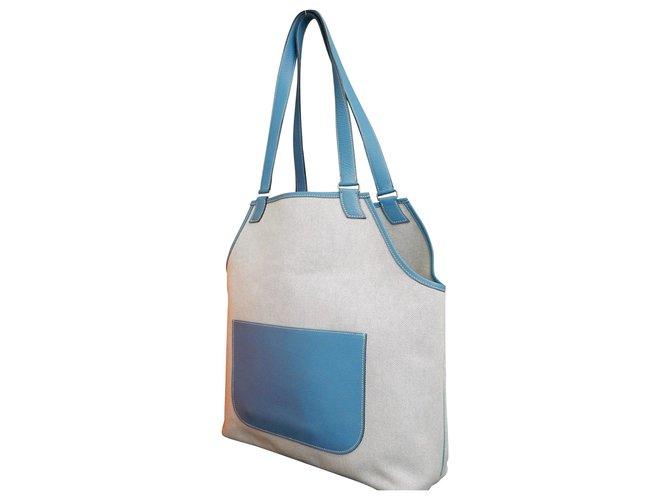 Hermès Hermès Toile H Handbags Cloth Cream ref.163142