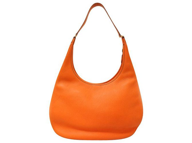 Hermès Hermès Gao Handbags Leather Orange ref.163389