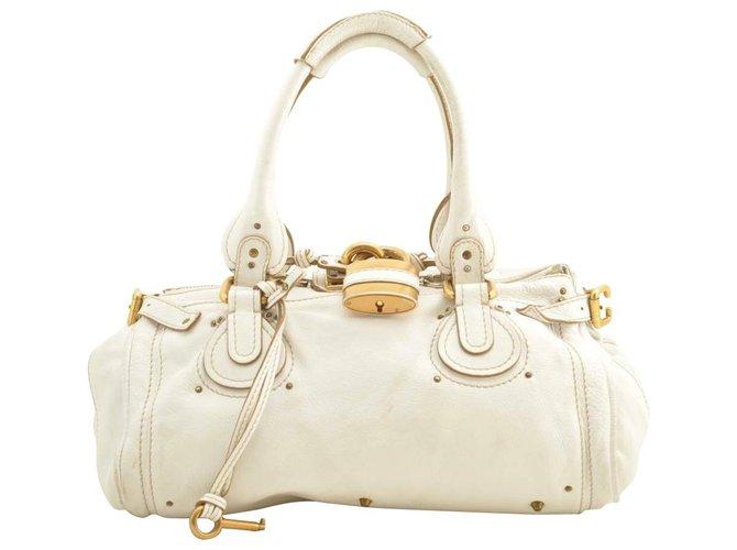 Chloé Chloé Leather Hand Bag Handbags Leather White ref.163443