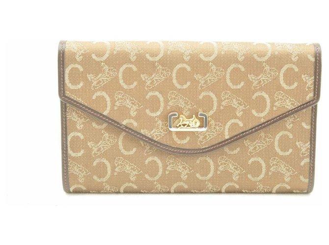 Céline Céline Canvas Chain Purses, wallets, cases Cloth Brown ref.163656