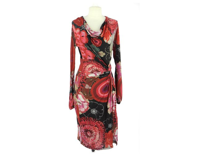 Desigual Robe Dresses Viscose Red Ref 163745 Joli Closet