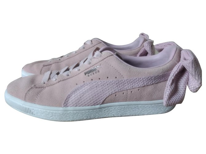 Puma Puma suede bow light pink Sneakers Suede Pink ref.163935