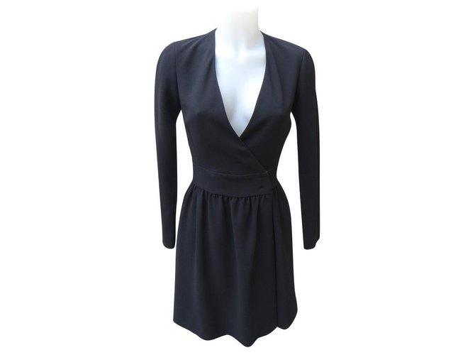 Céline Dresses Dresses Silk,Triacetate Black ref.164002