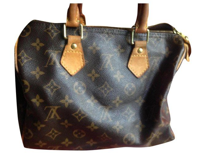 Louis Vuitton Speedy bag 25 Handbags Leather Brown ref.164024