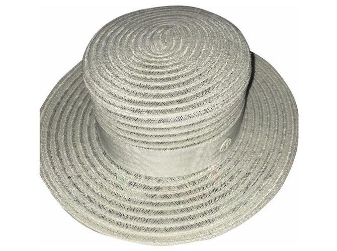 Maison Michel Kiki Hats Straw White ref.164025