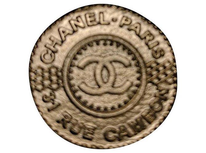 Bagues Chanel Bague pièce T54 doré Plaqué or Doré ref.164253