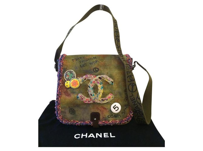 Sacs à main Chanel Sacs à main Toile Multicolore ref.164398
