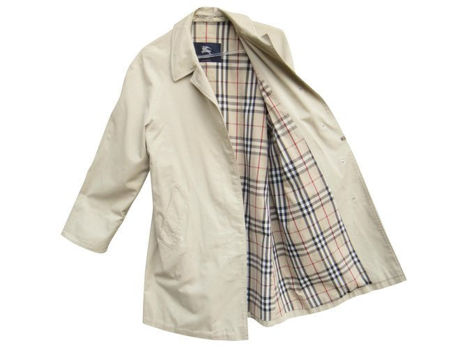 Burberry Waterproof Burberry London Size 40 Trench coats Cotton,Polyester Beige ref.164551