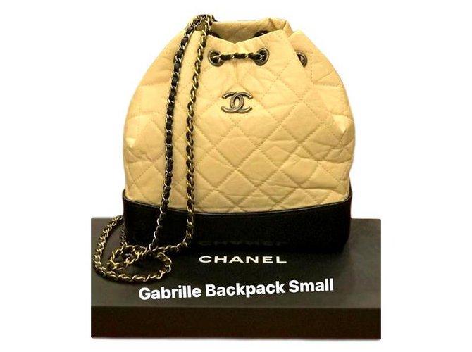 Chanel Backpacks Backpacks Leather Black,Beige ref.164707