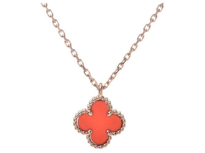 Van Cleef & Arpels Van Cleef & Arpels Sweet Alhambra Necklaces Gold-plated Pink ref.164978