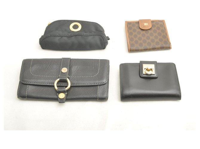 Céline Céline Macadam PVC Leather Nylon Wallet Pouch 4SET Purses, wallets, cases Leather Black ref.165010