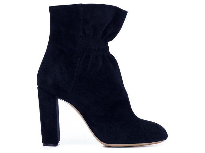 Chloé Ankle Boots Ankle Boots Suede Navy blue ref.165037