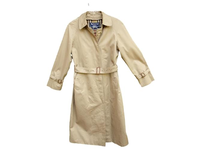 Burberry Burberry woman raincoat vintage t 36 with removable wool lining Trench coats Cotton,Polyester,Wool Beige ref.165055