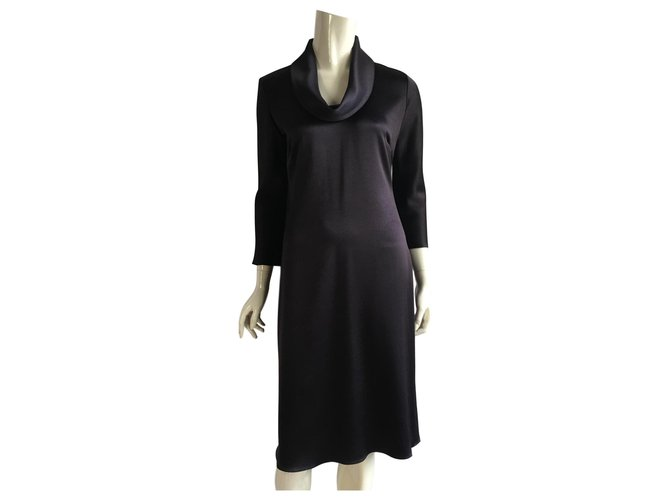 Céline Dresses Dresses Polyester,Acetate Purple ref.165249