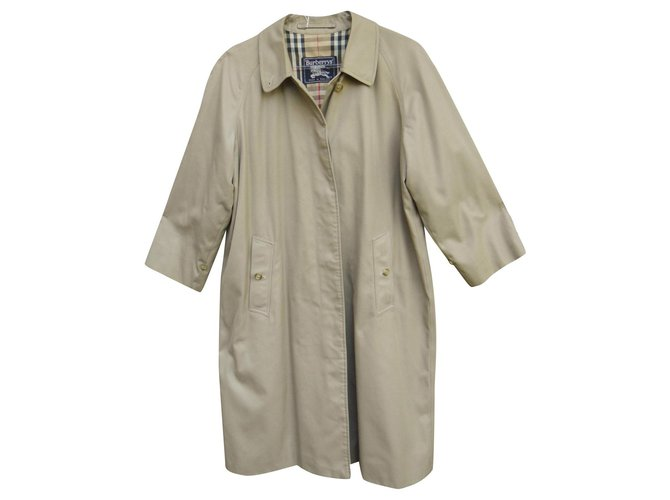 Burberry raincoat woman Burberry vintage size 38 Trench coats Cotton,Polyester Khaki ref.165096