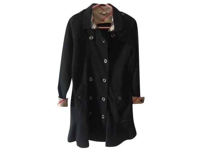 Blousons, manteaux filles Burberry Manteaux fille Coton Noir ref.165127