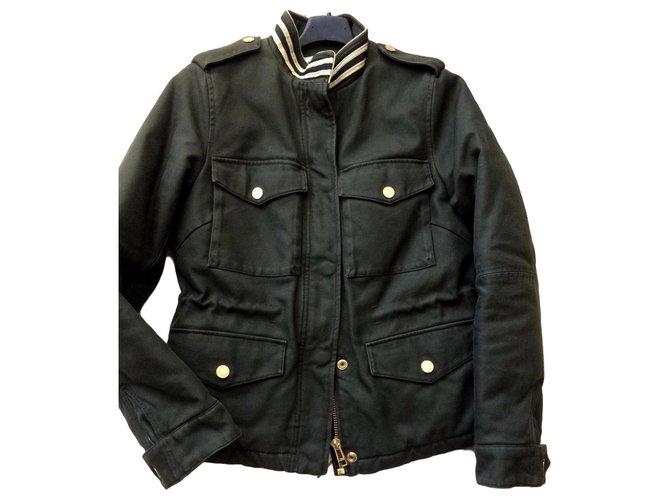 Zadig & Voltaire Coats, Outerwear Coats, Outerwear Cotton Khaki ref.165379
